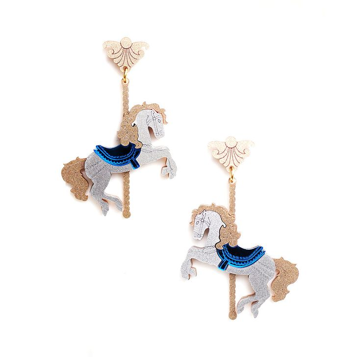Merry Go Around Horse Earring in Multi Colours by FABcessories
