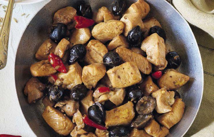 Spezzatino di pollo con le olive