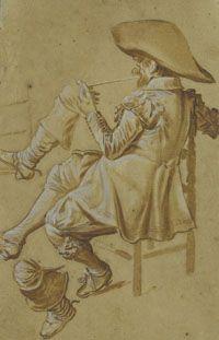 Dirck Hals- Etude d'un homme assis
