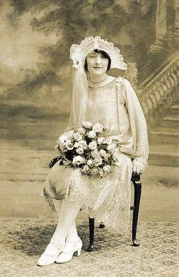 1920s wedding dress, 1920s bride
