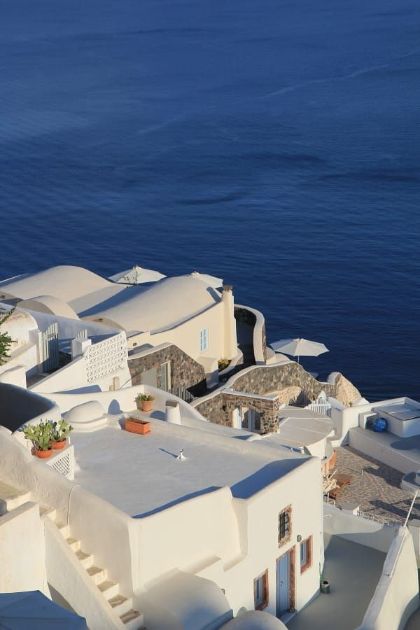 SANTORINI. I really don't need much in life, just a winning lottery ticket and a first class flight to Santorini.