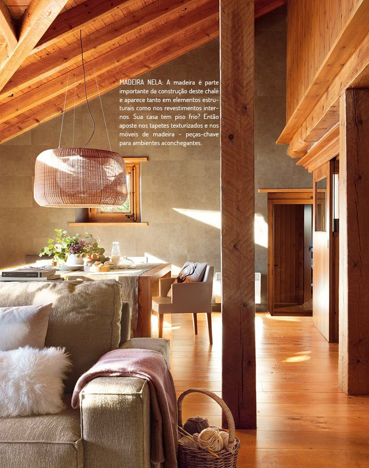 Decoração de: Detalhes; vigas de madeira; Casa de Valentina