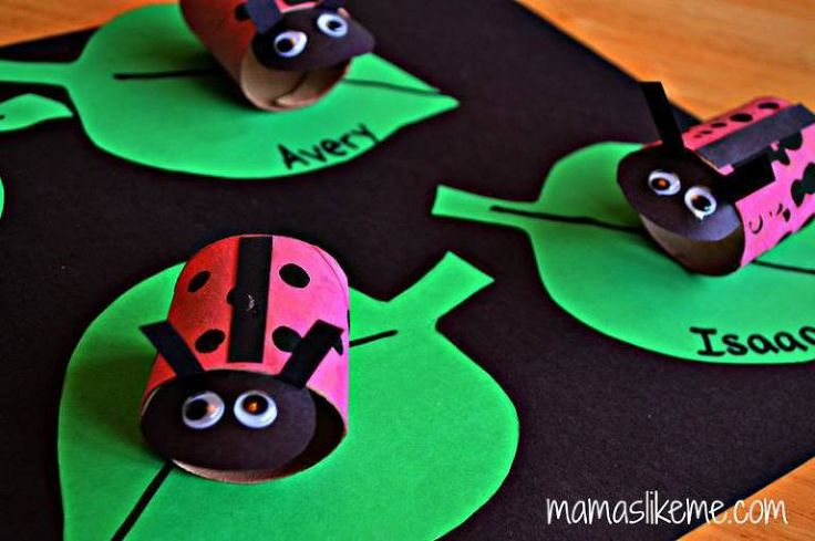 toilet paper roll ladybugs