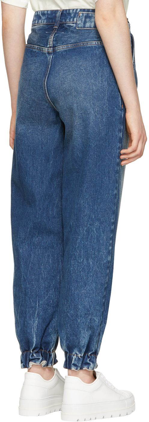 MM6 Maison Martin Margiela - Blue 80's Wash Slouchy Tapered Jeans