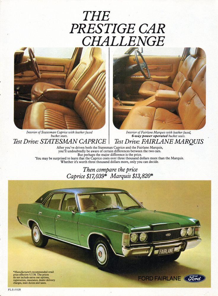 1977 ZH Fairlane Marquis By Ford Aussie Original Magazine