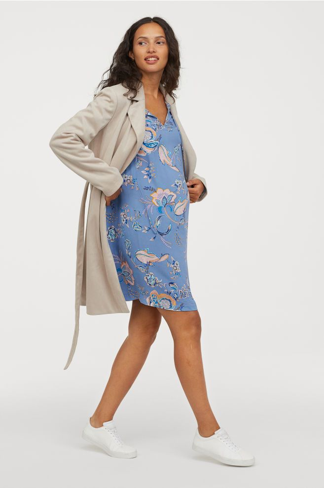2907436bf62 MAMA Patterned Dress - Blue floral - Ladies