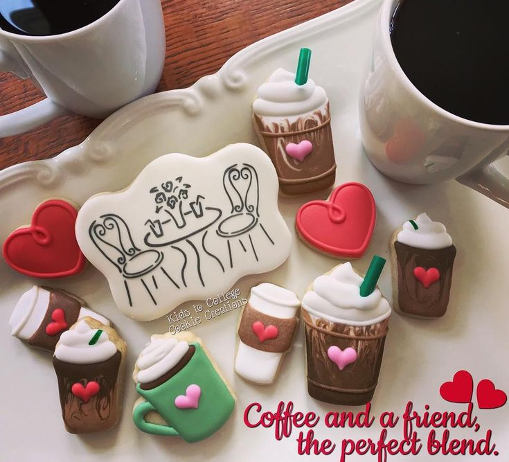 I #love #coffee and #hearts and especially #sharing them with #friends Happy Valentine's Day a little early, my #sweet #lovin #cookiefriends !! #theperfectblend #kidstocollegecookiecreations