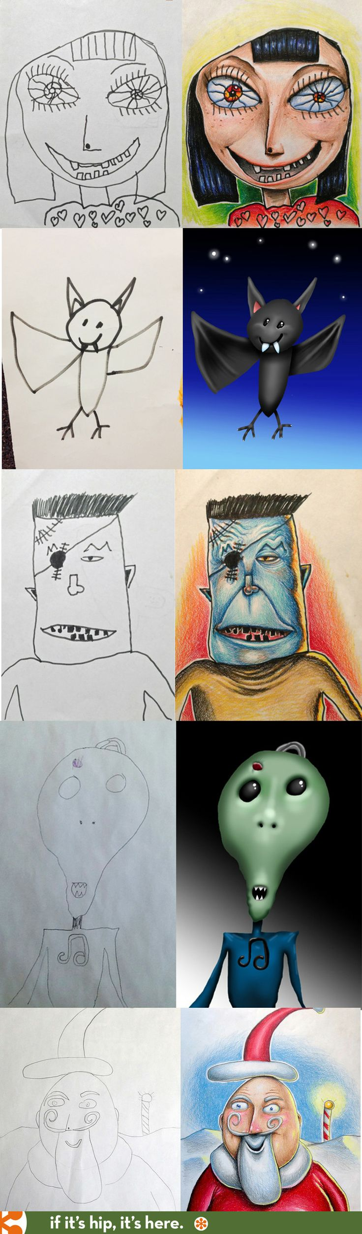 The dad who colors in his kids' drawings with colored pencils and an iPad.