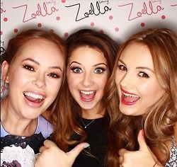 Tanya, Zoe, and Naiomi at the Zoella Beauty launch.