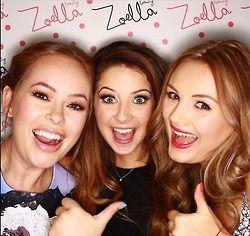 Tanya, Zoe, and Naiomi at the Zoella Beauty launch.