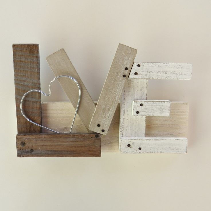 Oltre 25 fantastiche idee su lettere di legno su pinterest - Bricolage legno idee ...