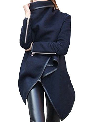 Azbro Women's Turtleneck Irregular Trench Coat with Zip S... https://www.amazon.de/dp/B01AHPZD36/ref=cm_sw_r_pi_dp_x_0HC7xb2D9WH3D