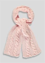Girls Cable Knit Scarf (One Size)