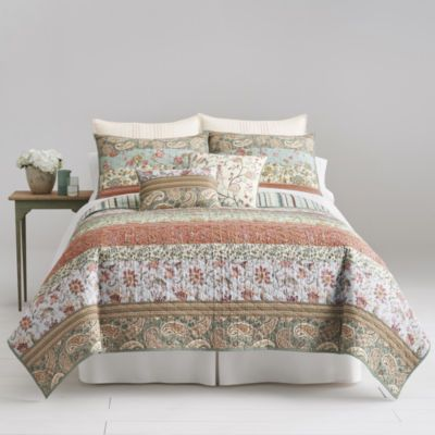 Jcp Home Expressions Jacobean Stripe Quilt And