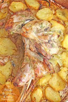 Paletilla de cordero al horno , La paletilla de cordero al horno es una excelente receta de Navidad. Descubre esta receta de cordero paso a paso y disfruta de un plato de carne tierno y jugoso