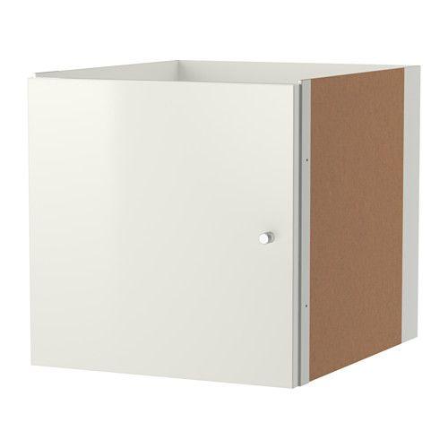 KALLAX Insert with door, high gloss white high gloss white 13x13
