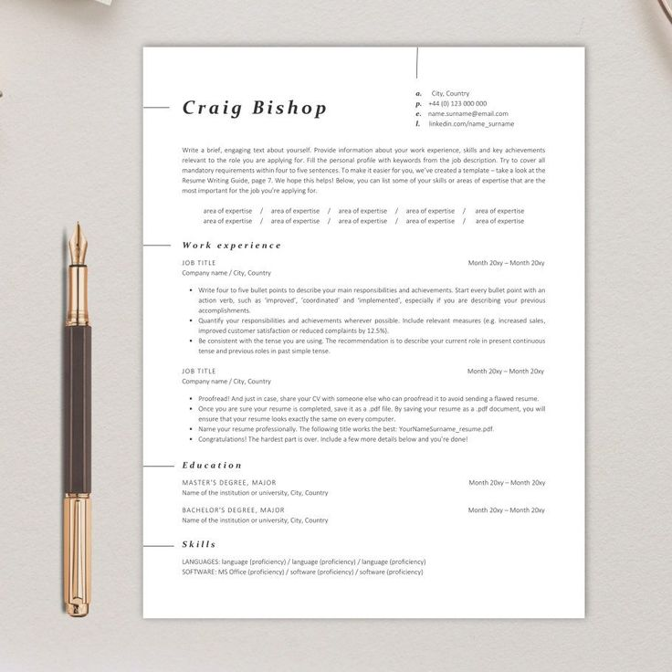 New ATSfriendly resume template is available now! Check