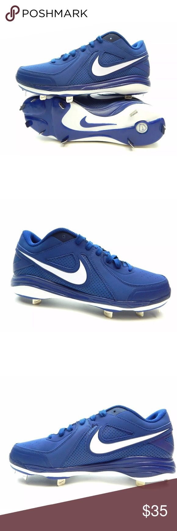 NEW Nike Air MVP Pro Baseball Blue Cleats Sz 16 NEW Nike Air MVP Pro Low Metal Baseball Cleats Men's Size 16 [524641-410] Blue.   Has a small defect. See last pic. Nike Shoes Sneakers