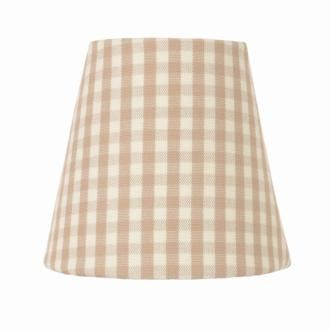tapered candle shade in natural longford gingham made by. Black Bedroom Furniture Sets. Home Design Ideas