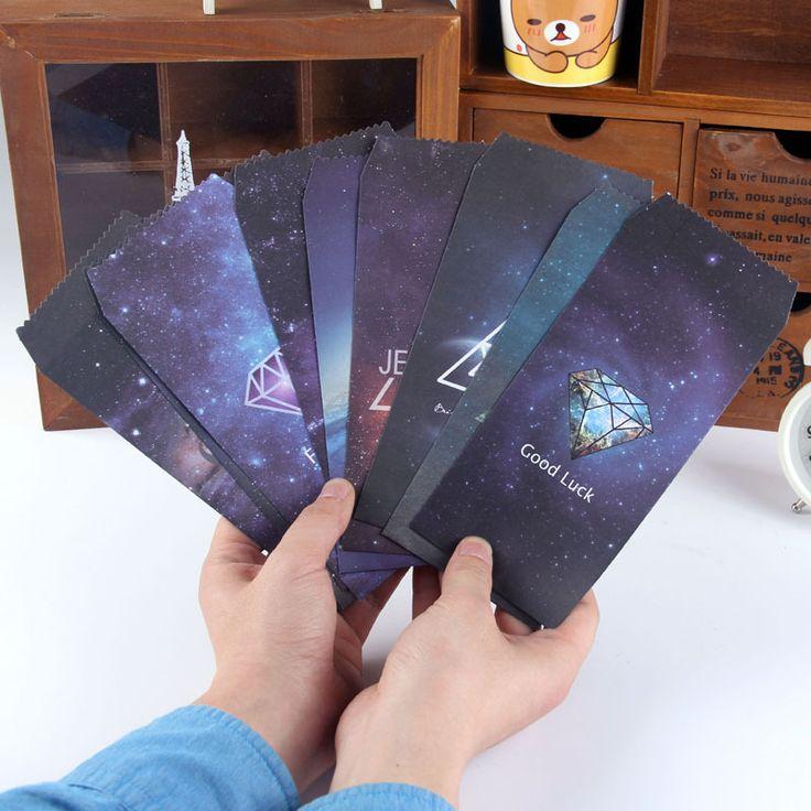 5 unids/lote Sobre De Papel Sobres de Estilo Romántico Estrellado Estilo Coreano de La Vendimia De Regalo Scrapbooking Tarjeta 03220