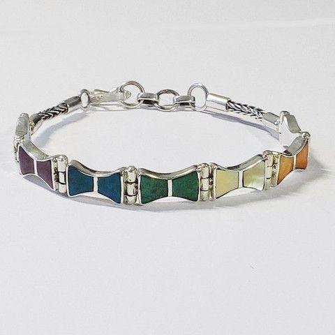 bracelet argent pierres fines du pérou