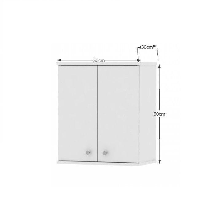 Fali szekrény, fehér, GALENA SI08