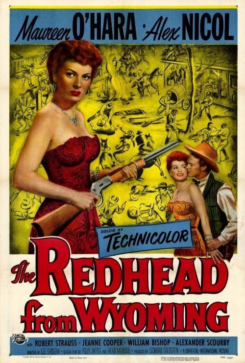 The Redhead from Wyoming 27 x 40 Movie Poster Maureen OHara