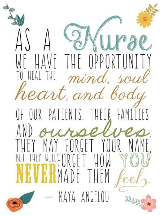 SOOOO TRUE!!!!!! From experience when I was hospitalized, those nurses are who comforted me, took care of me, and made my anxiety go away. That's the day I made a promise to God I would become a nurse and help the sick! Now two and a half years later, prereqs are completed!!!!!!!!!!!!!!!