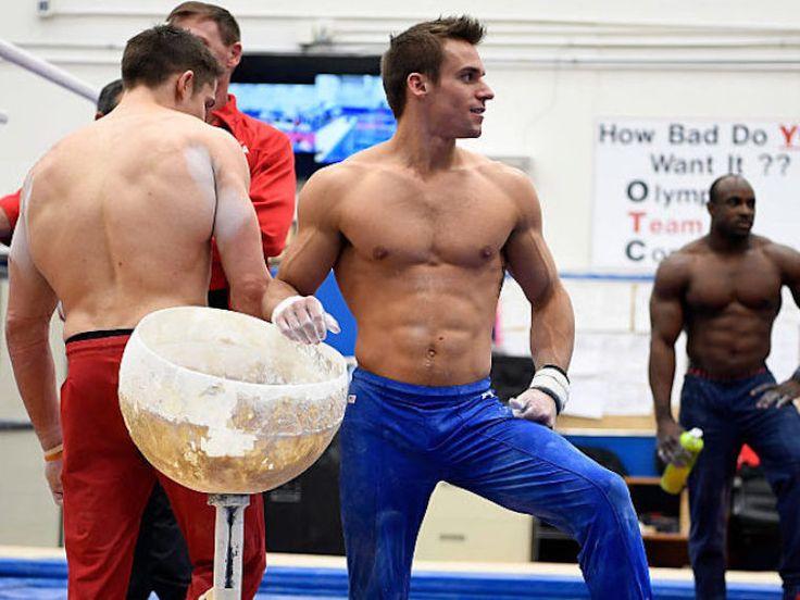 College Gay Straight Men Gym Fantasy Sammy