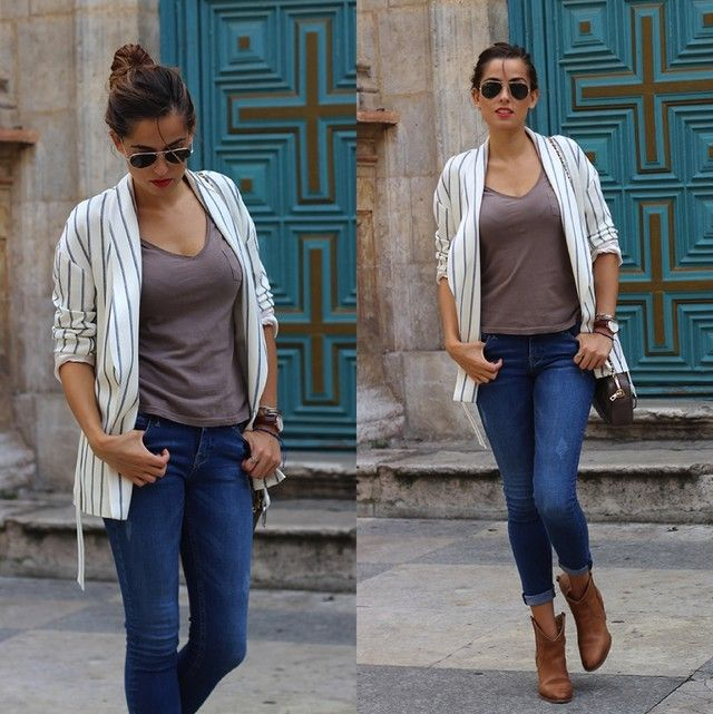 Outfits Casuales Con Botines Cafes