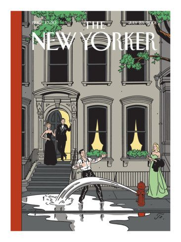 Art.fr - Reproduction procédé giclée Premium 'The New Yorker Cover - July 23, 2001' par Jean Claude Floc'h