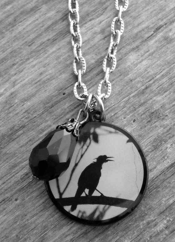 Edgar Allan Poe Raven Necklace by Ink & Roses 13