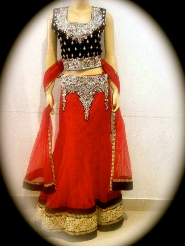 Exquisite Anarkali, Available in Red, Royal Blue and Pink.