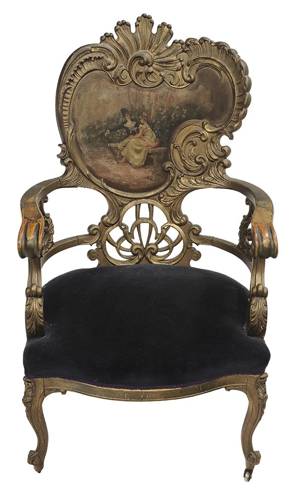 Vernis Martin Style Gilt Wood and Painted Chair. Antique ... - 207 Best Furniture Designs Images On Pinterest Chairs, Armchairs