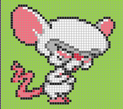 The Brain - Pinky and the Brain perler bead pattern