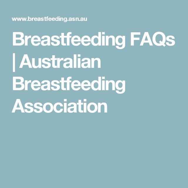 Breastfeeding FAQs | Australian Breastfeeding Association