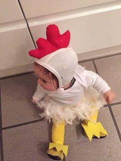 Lille kylling fastelavn kostume udklædning