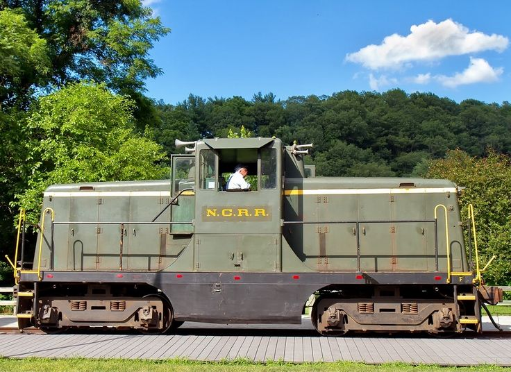 Northern Central Railway, GE 44-ton switcher four-axle diesel-electric locomotive in Hanover Junction, Pennsylvania, USA