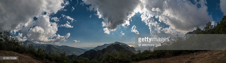 view of the city of Carrara and the Ligurian Sea from the Apuan Alps