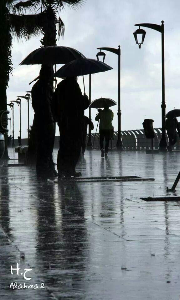 People enjoy the storm of #Lebanon