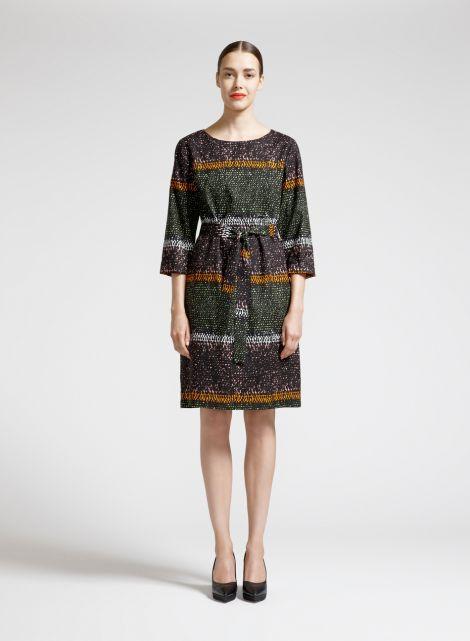 Koto-mekko (vihreä, oranssi, musta) |Vaatteet, Naiset, Mekot ja hameet | Marimekko