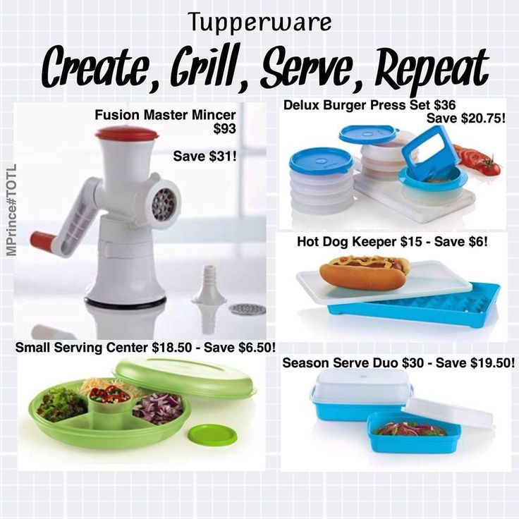 Get BBQ with Tupperware's current sales flyer. View it online at www.jamesp.my.tupperware.ca