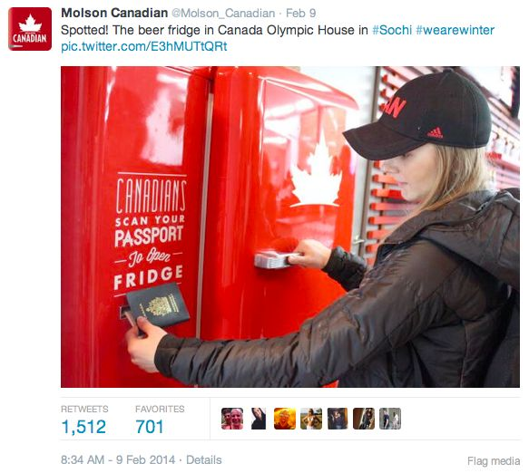 How Molson, Airbnb, and American Apparel Scored Social Media Gold in Sochi
