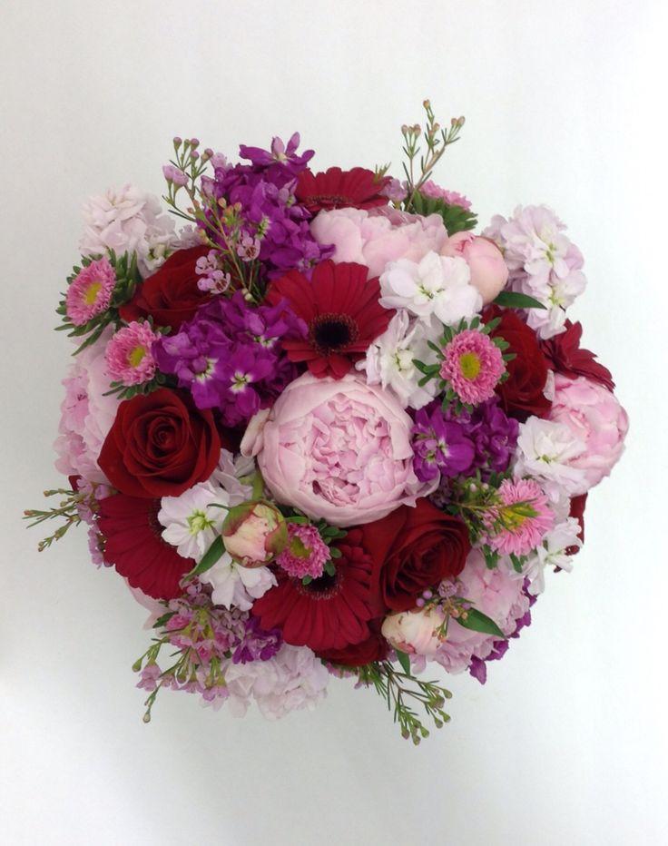 Peonies Roses Asters Stock And Wax Flower By Nancy At Belton Hyvee