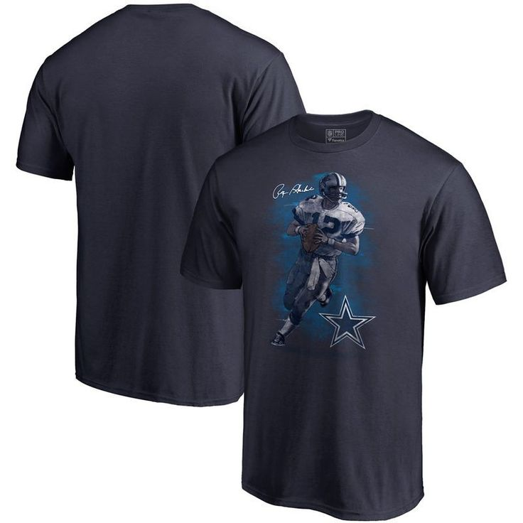 Roger Staubach Dallas Cowboys NFL Pro Line by Fanatics Branded Retired Player Illustration Name & Number T-Shirt - Navy https://www.fanprint.com/stores/dallascowboystshirt?ref=5750