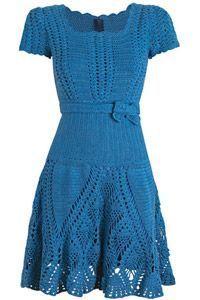 Como fazer vestido de crochê - Passo a Passo - Gráfico - Toda Moderna