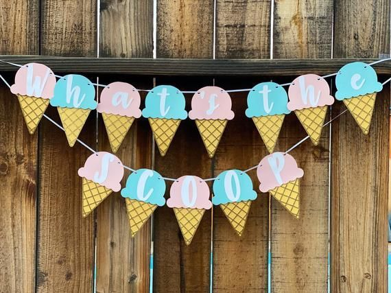 What S The Scoop Gender Reveal Ice Cream Gender Reveal What S The Scoop Banner Ice Cream In 2020 Gender Reveal Banner Gender Reveal Decorations Gender Reveal Party