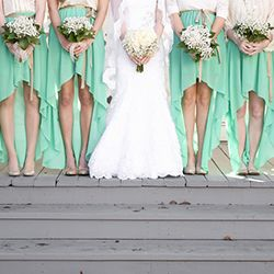 High low bridesmaid dresses love this very different for High low wedding dresses with cowboy boots