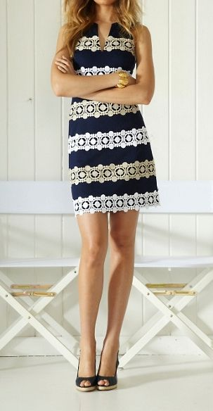 Lilly Pulitzer Augusta Shift Dress...love the classic lines of this dress not so much the pattern.