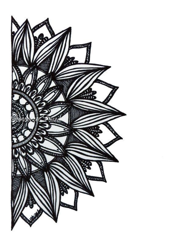 Sunburst - Original Ink Drawing - Black and White Sketch